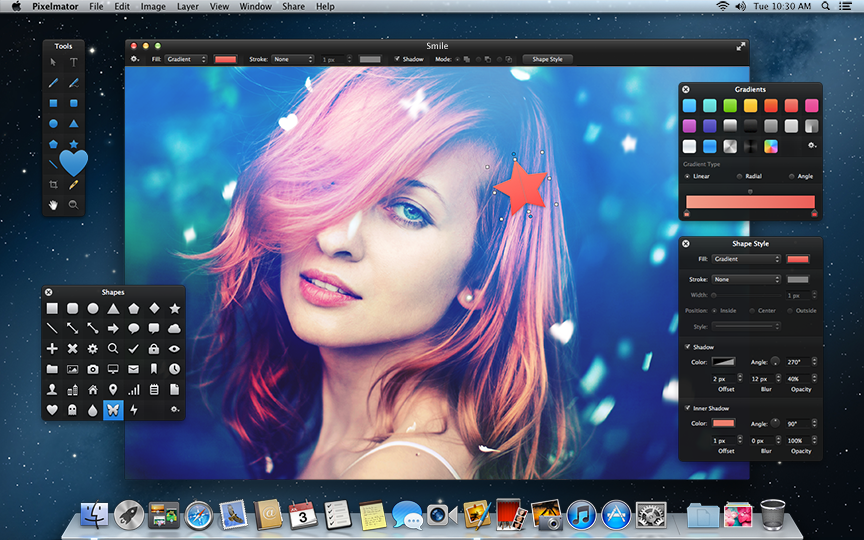 An image of Pixelmator, an alternative to PhotoScape.